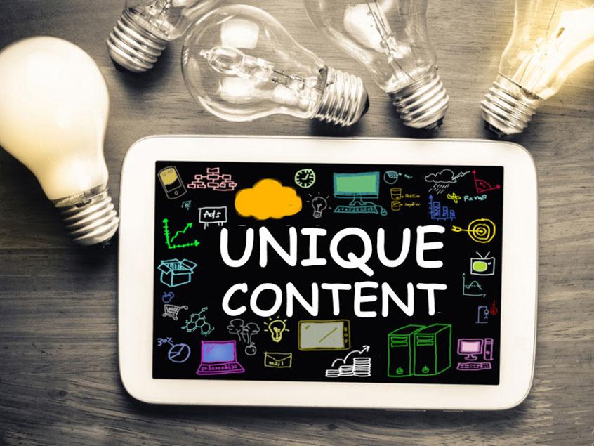 Unique content là nguyên tắc cần có khi viết bài chuẩn SEO