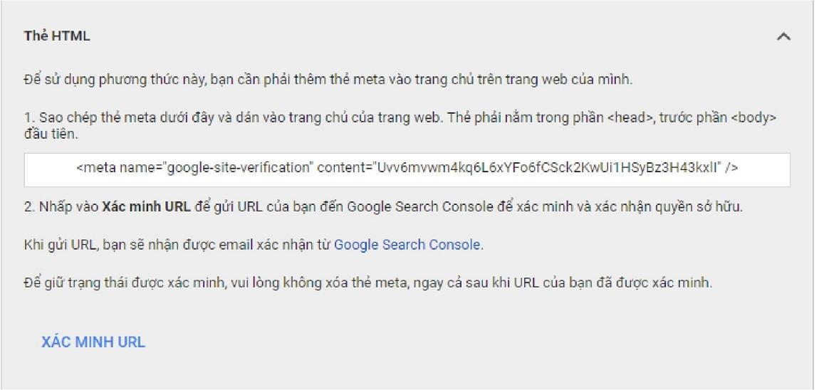Xác minh Google Merchant