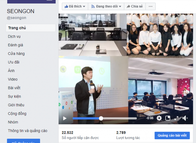 sử dụng video trên facebook