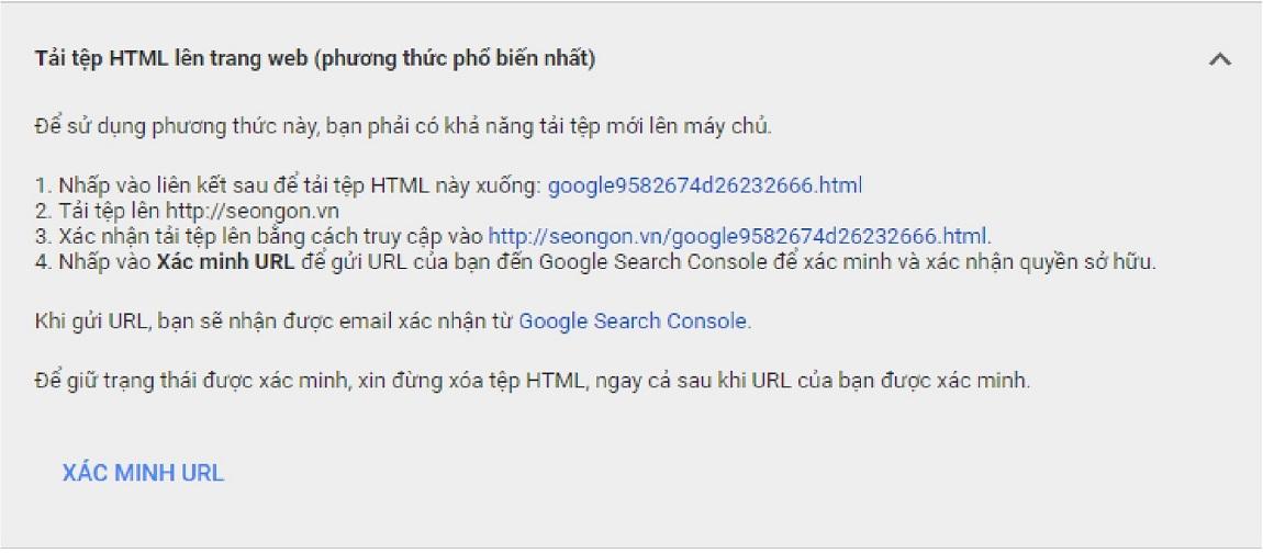 Gắn mã html xác thực Merchant