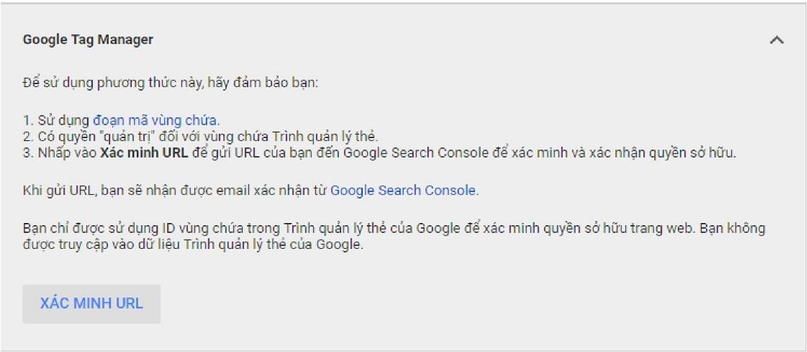 Xác minh Google Merchant bằng Google Tag Manager