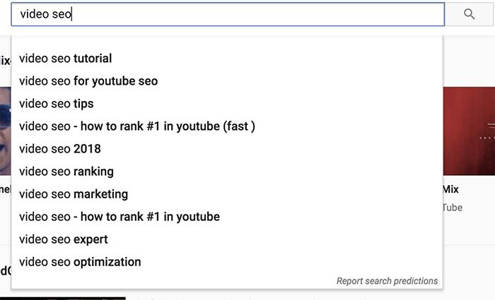 Tạo danh sách từ khoá SEO Video