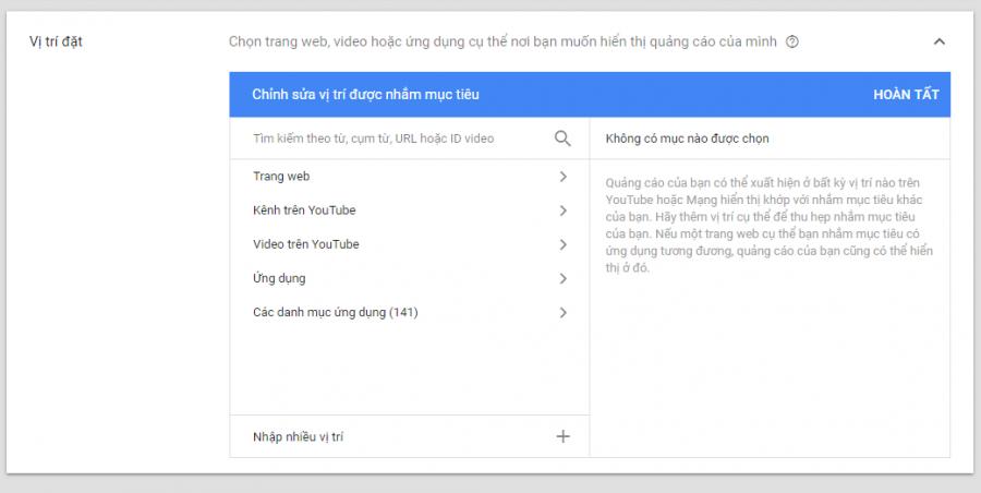 Quảng cáo google dislay network