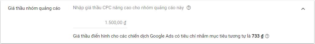 Đặt giá thầu nhóm quảng cáo GDN