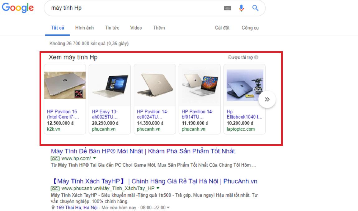 google shopping ads phù hợp với ngành công nghệ