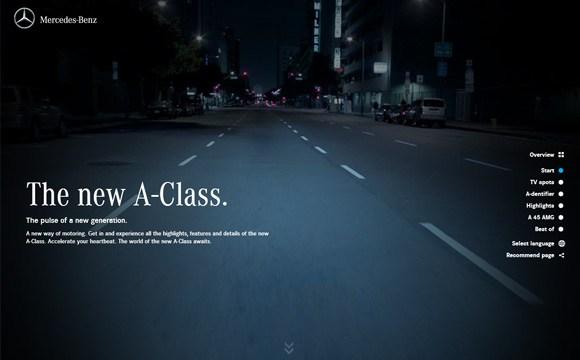 Mercedes - A Class website