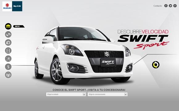 Website ô tô Suzuki Swift
