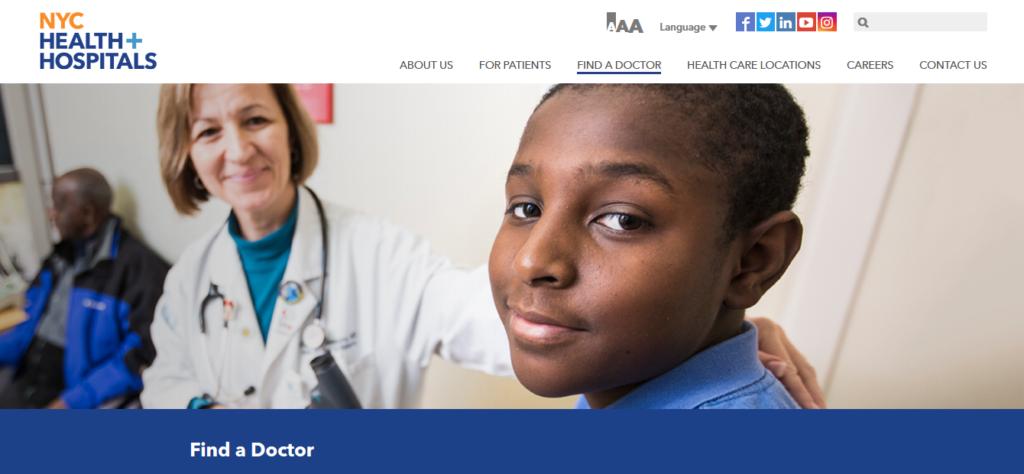 thiết kế website phòng khám NYC Health + Hospital