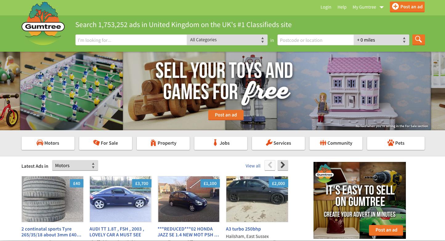 Website rao vặt với dịch vụ up tin bài