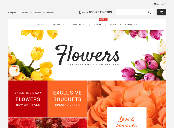 Thiết kế website shop hoa - Flower Shop