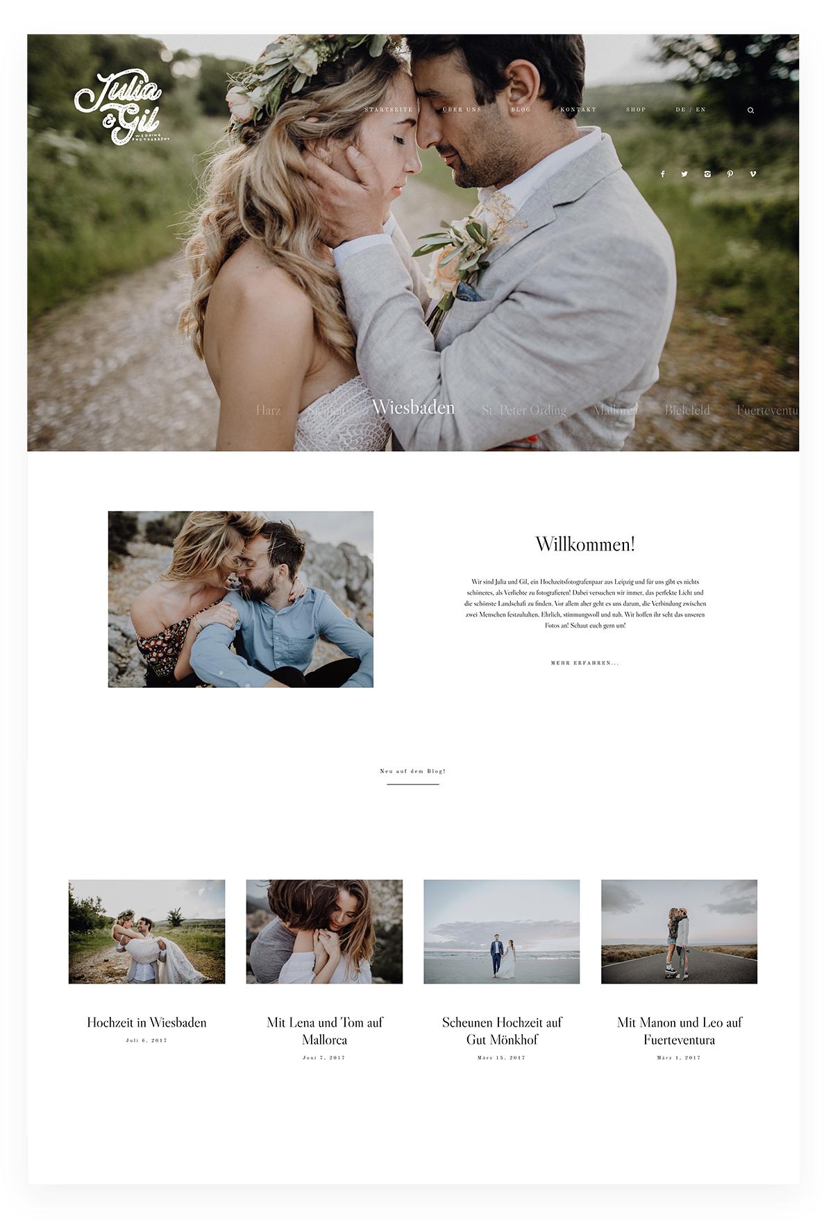 Thiết kế website studio - Julia & Gil