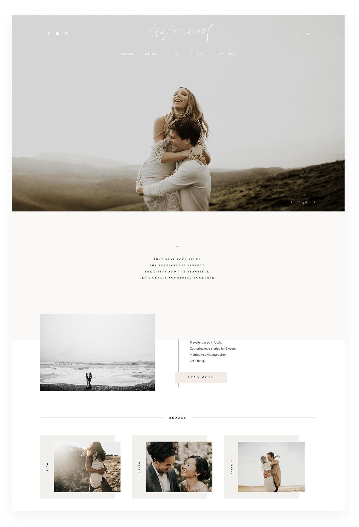 India Earl - Thiết kế website Studio