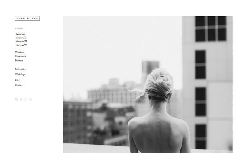 Thiết kế website Studio - Samm Blake
