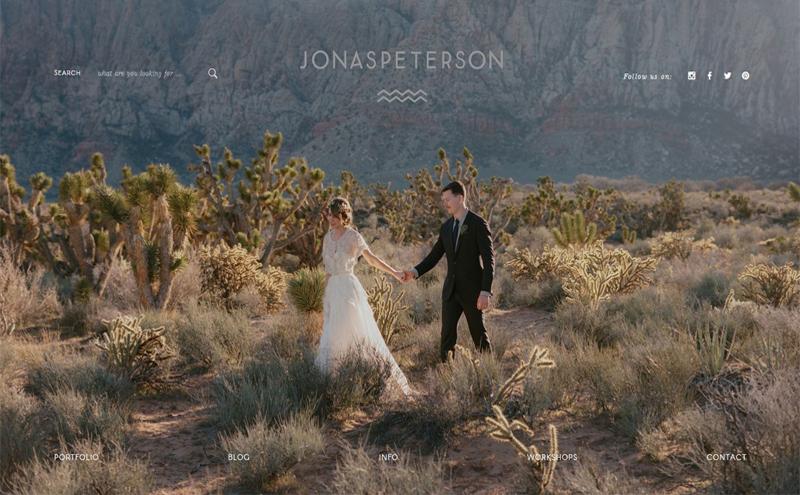 thiết kế website studio - Jonas Peterson