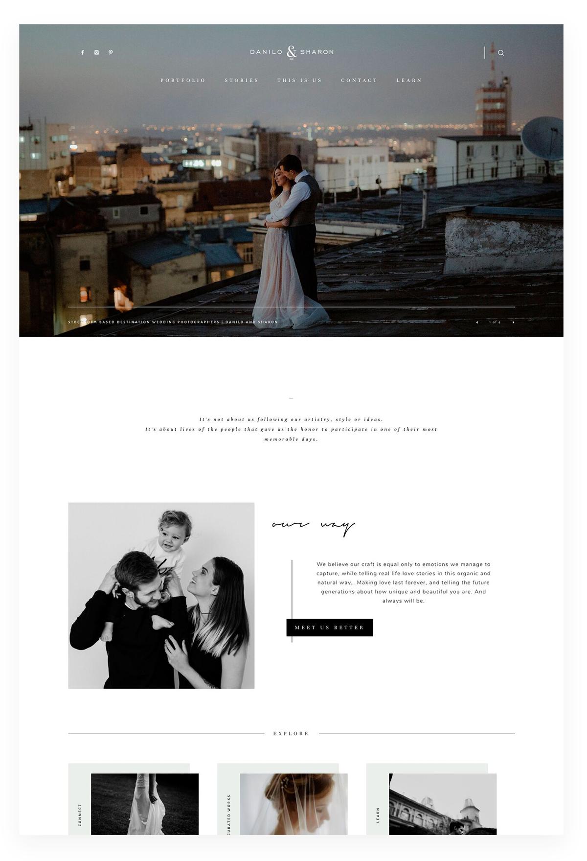 Danilo & Sharon - thiết kế website studio