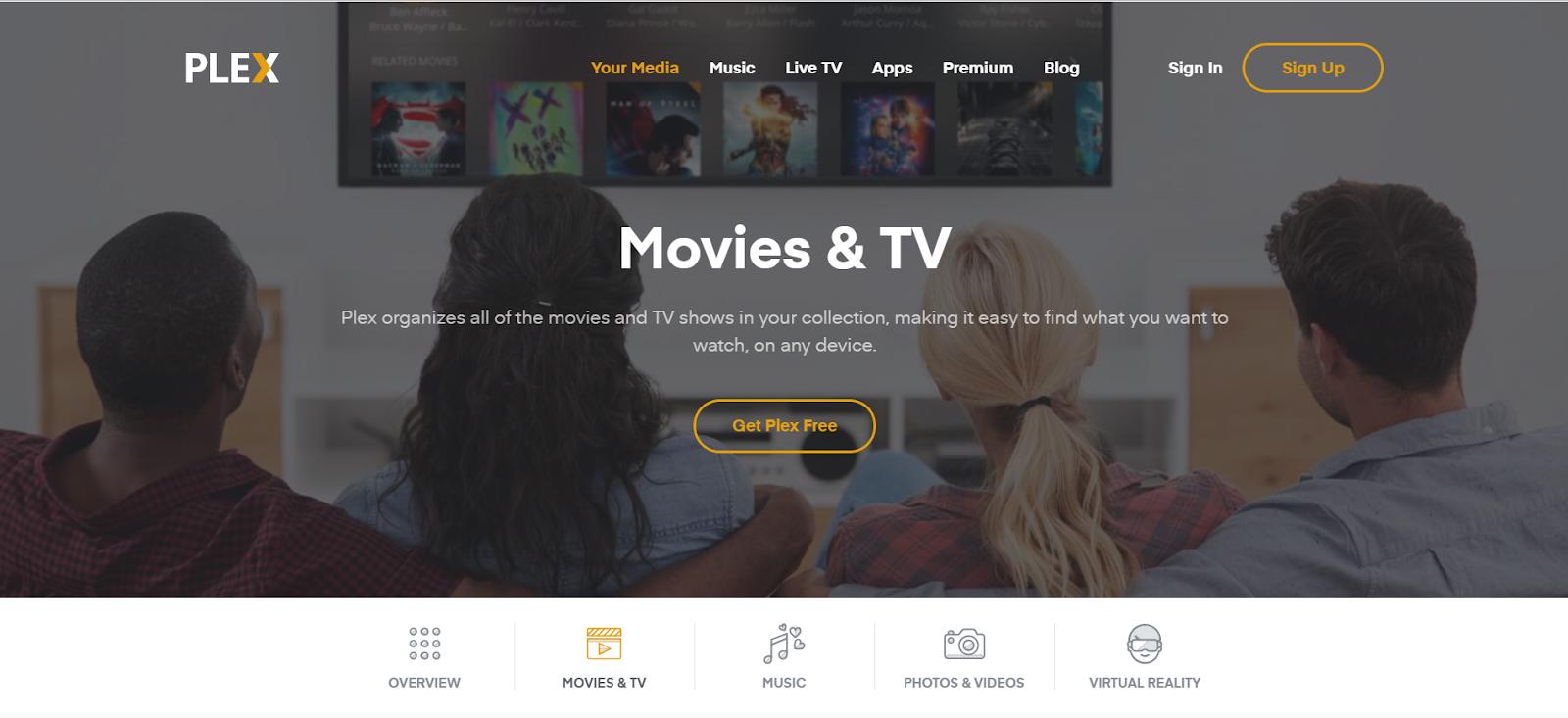 Website xem phim Plex