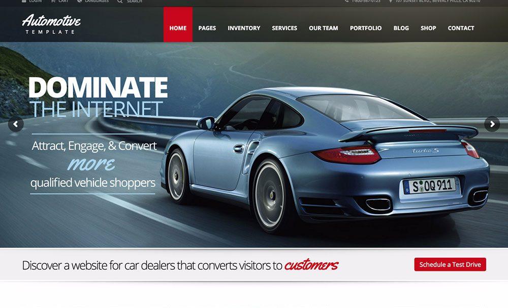20 Thiết kế website ô tô sáng tạo nổi bật 2019
