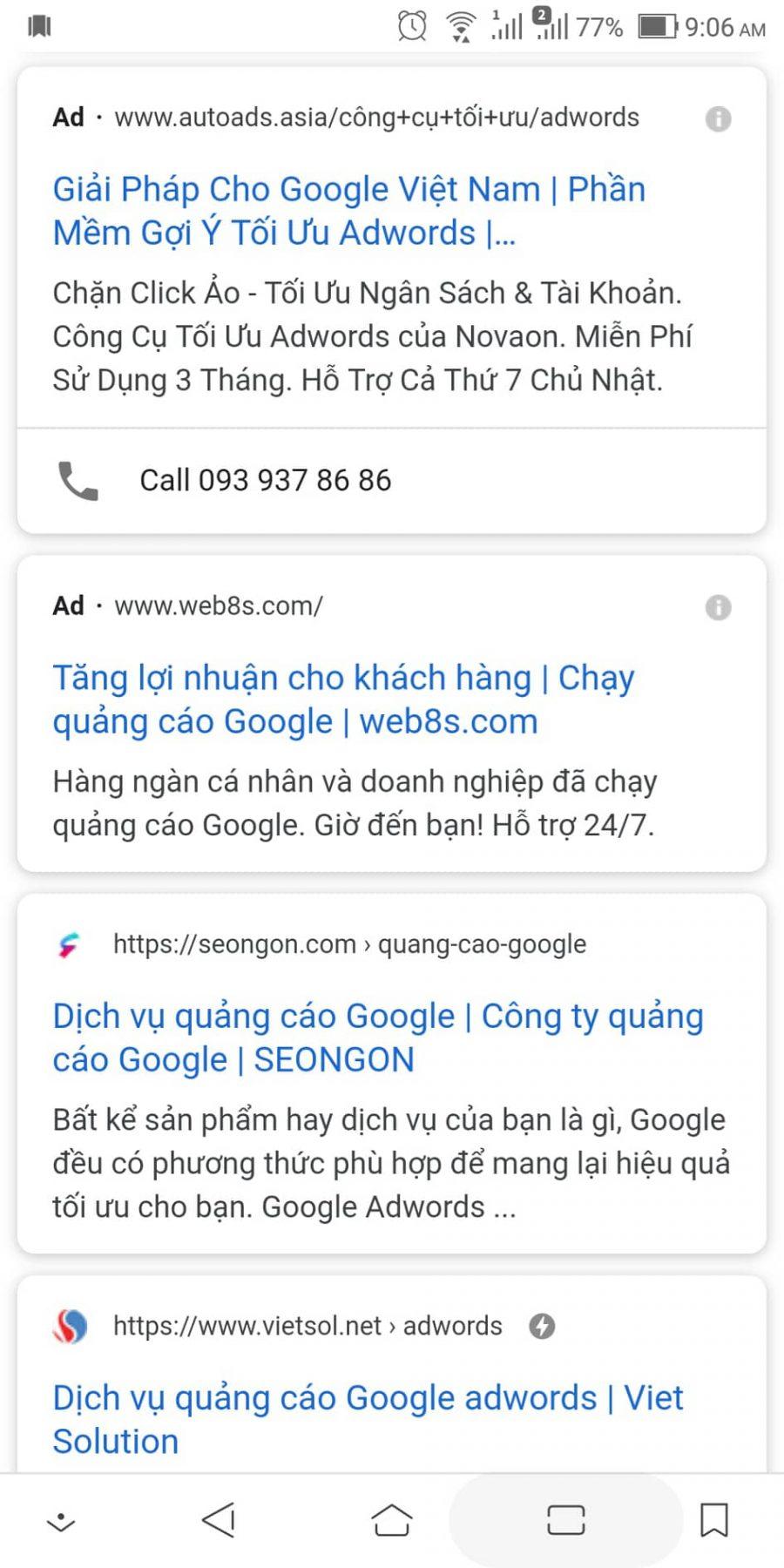 ý nghĩa cập nhật quảng cáo tìm kiếm