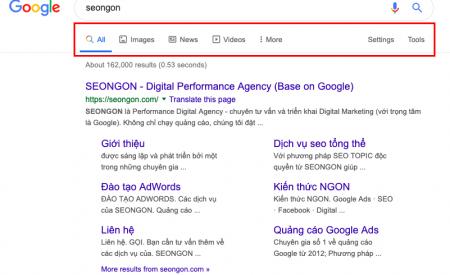 Google ra mắt thanh tìm kiếm mới với biểu tượng trên menu