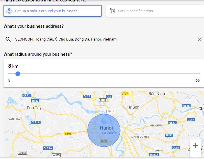 Giới hạn vị trí địa lý cho quảng cáo