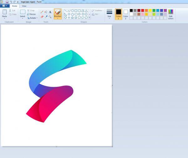 Giao diện của công cụ paint trong hình ảnh
