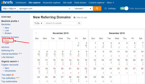 kiểm tra số domain mới nhất trỏ tới website