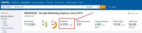 kiểm tra backlink trỏ đến website