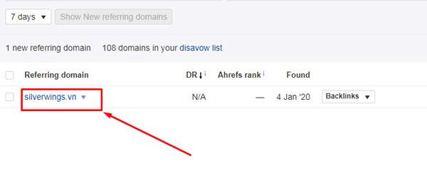 new referring domain