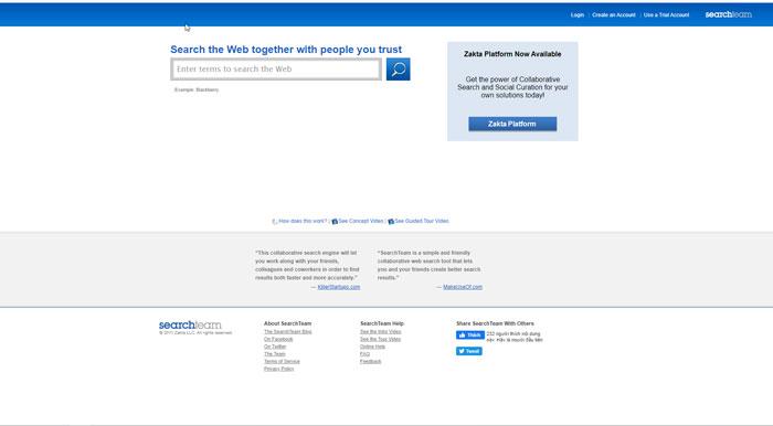 Công cụ tìm kiếm SearchTeam