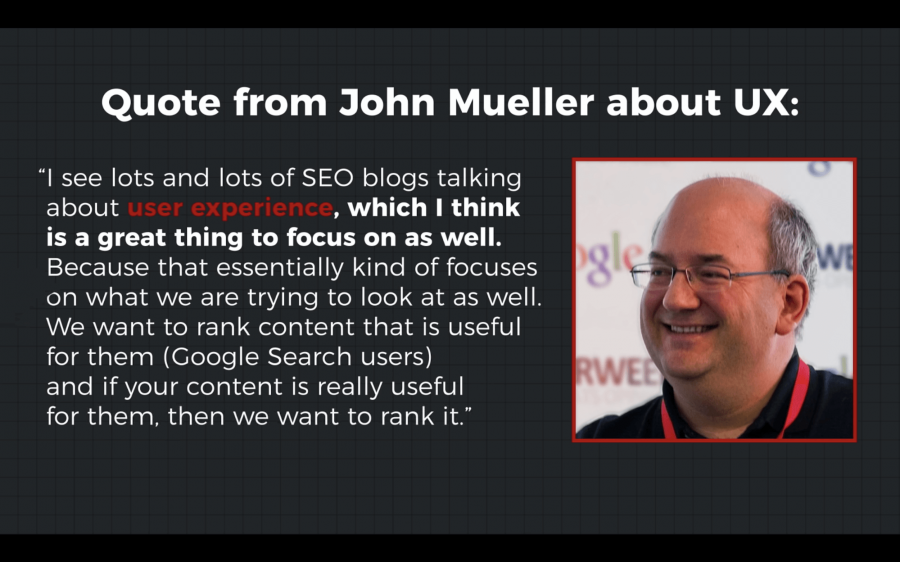 John Mueller nói về UX trong SEO