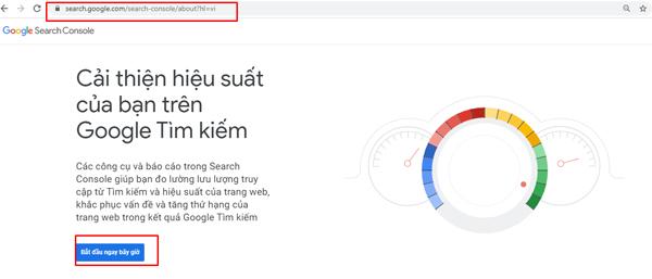 Bước 1 cài đặt Google Search Console
