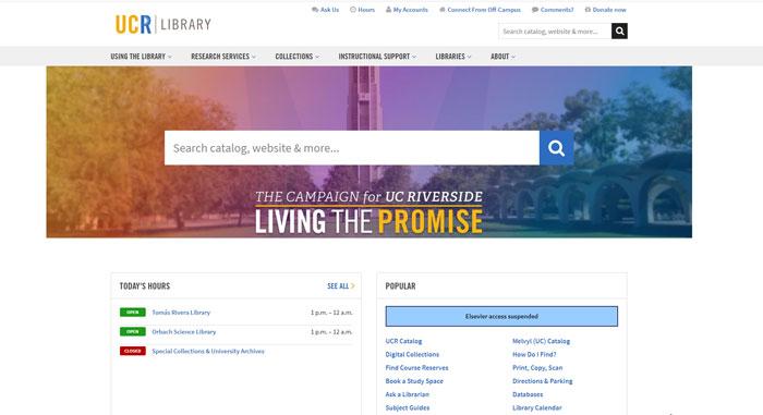 library.ucr.edu là môt công cụ tìm kiếm sử dụng trong thư viện lớn