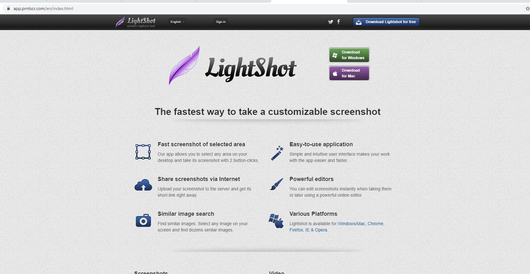Ứng dụng phần mềm lightshot