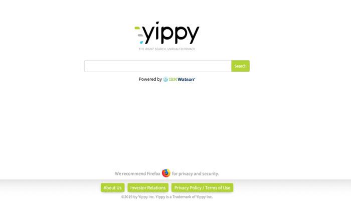 Yippy là công cụ tìm kiếm theo những chủ đề