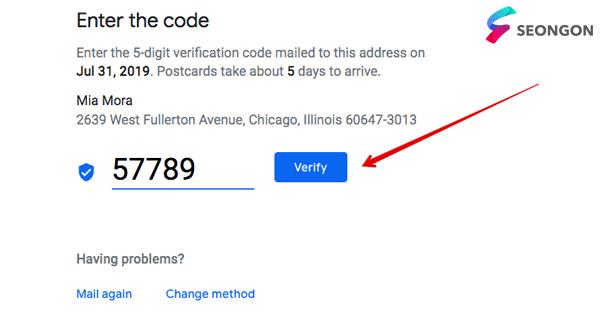 Kiểm tra email nhận mã xác minh để lấy mã do Google gửi