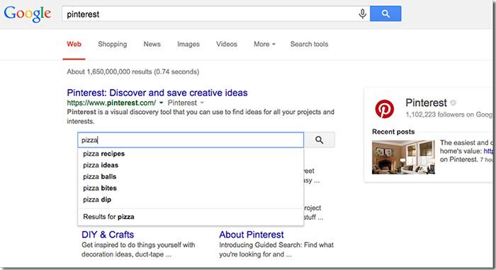 Hộp tìm kiếm liên kết trang web trong Google Search Console