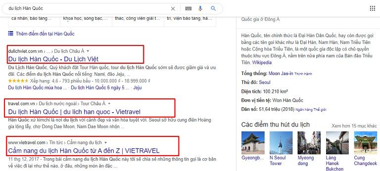 Vị trí meta title hiển thị trên kết quả tìm kiếm