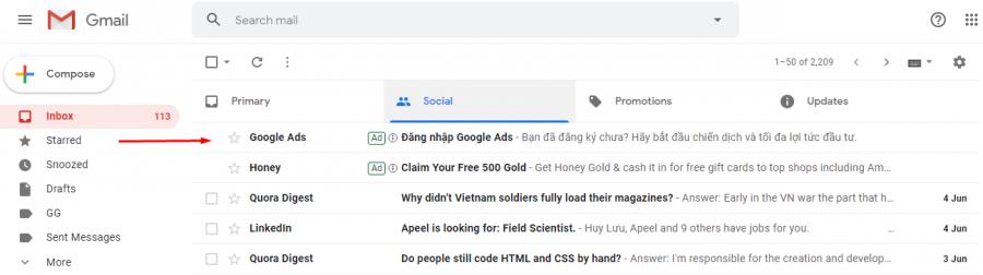Kinh nghiệm chạy quảng cáo Google; Bạn cần cá nhân hóa email để hút người dùng ở click đầu tiên
