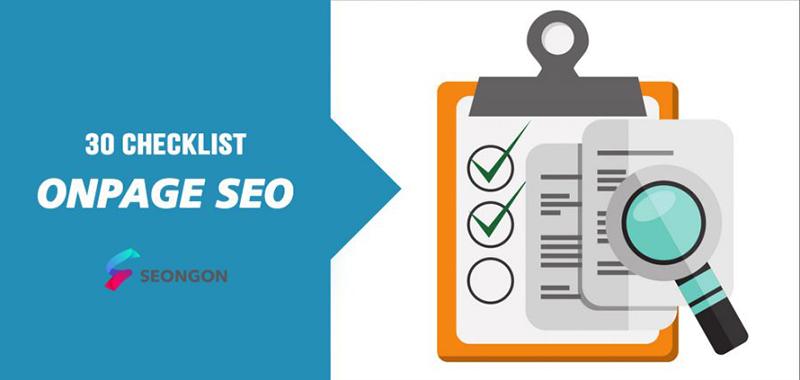 SEO checklist các tiêu chí onpage website