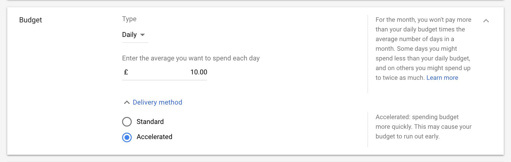 Đặt ngân sách cho quảng cáo YouTube