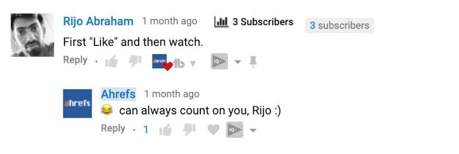 Làm theo công thức RIP, và bạn sẽ giúp duy trì được các video của mình.
