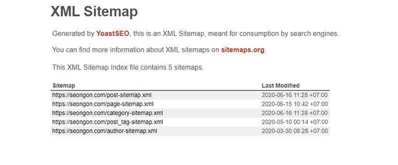 Bạn có thể cài đặt XML Sitemap khi SEO Website WordPress
