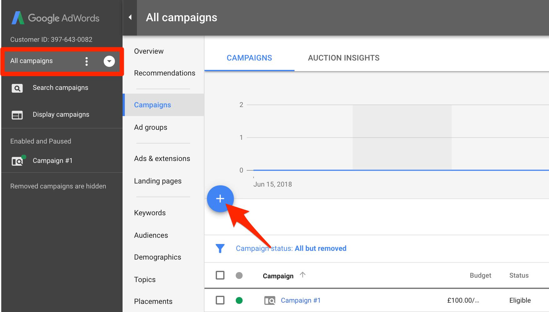 Tạo chiến dịch quảng cáo video YouTube mới