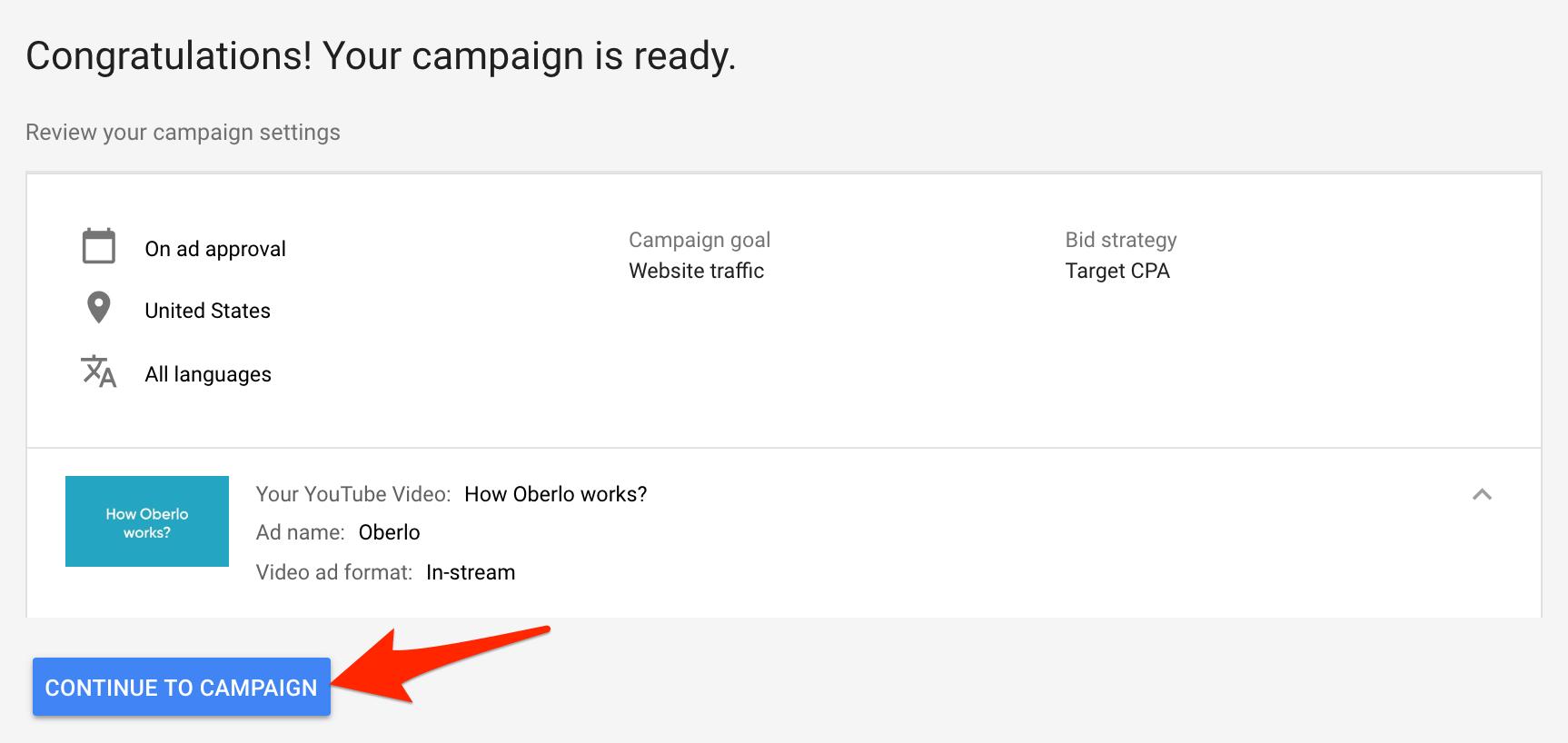 Thiết lập thành công chiến dịch quảng cáo YouTube
