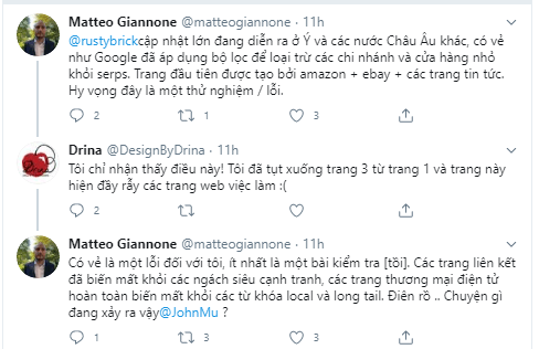 Google update 10.8 ý kiến trên twitter 2