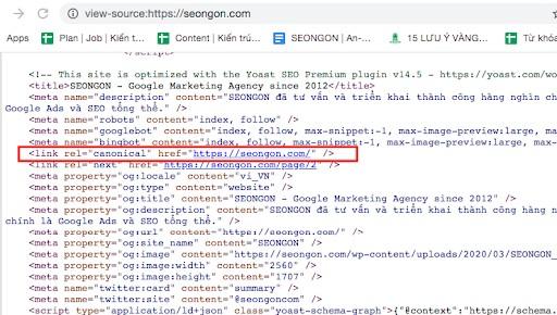 Công cụ tìm kiêm sẽ bỏ qua nếu trang web được thiết lập nhiều hơn 1 thẻ Canonical
