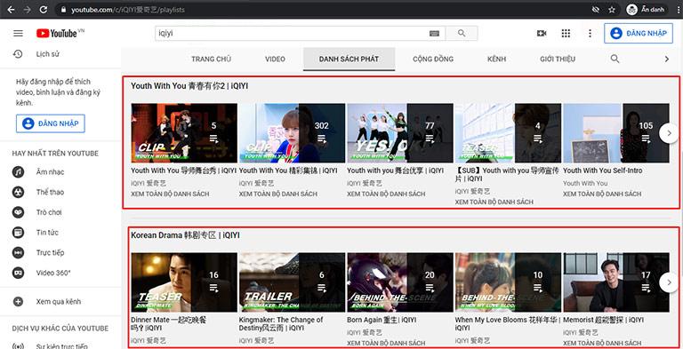 Cấu trúc kênh YouTube