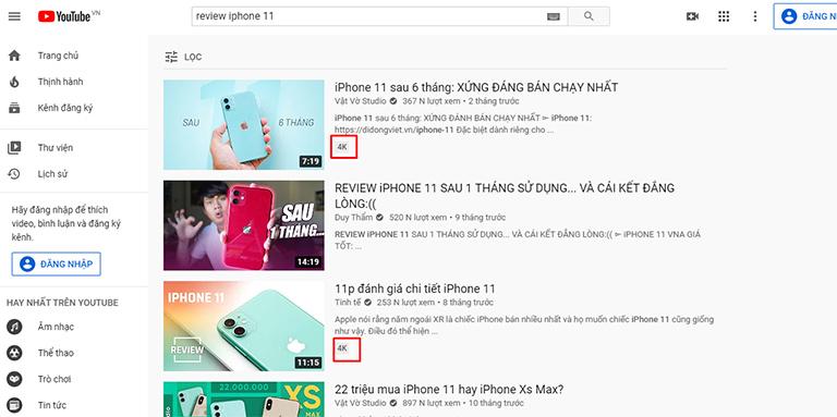 Chất lượng video là yếu tố xếp hạng của YouTube