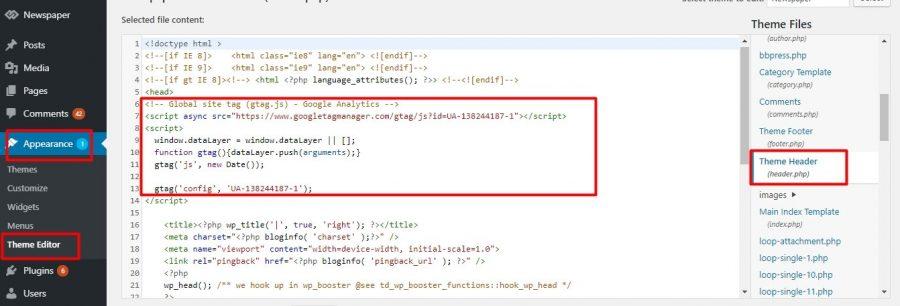 (Thêm đoạn code vào Theme Header nếu không dùng Yoast SEO)