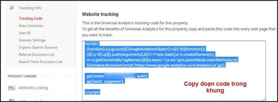 chèn tracking code